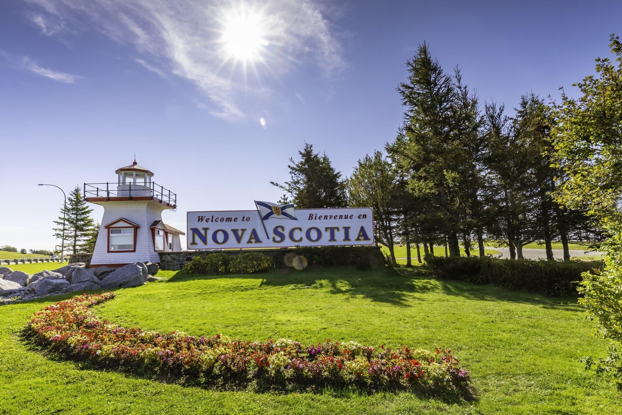 Welcome to Nova Scotia sign