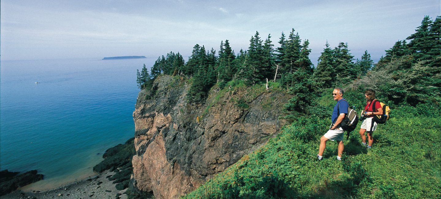 couple hikes at the top of Cape Chignecto